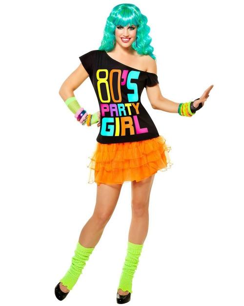 déguisement années 80 une party girl