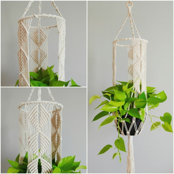 diy diy suspension macramé style vintage
