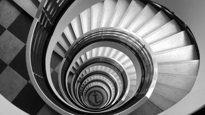 escalier photographie noir et blanc