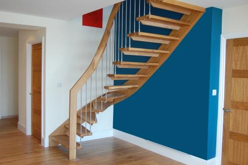 escalier quart tournant légèrement courbé