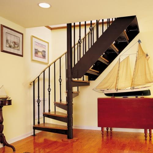 escalier quart tournant style vintage