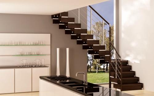 escalier quart tournant une salle de réception