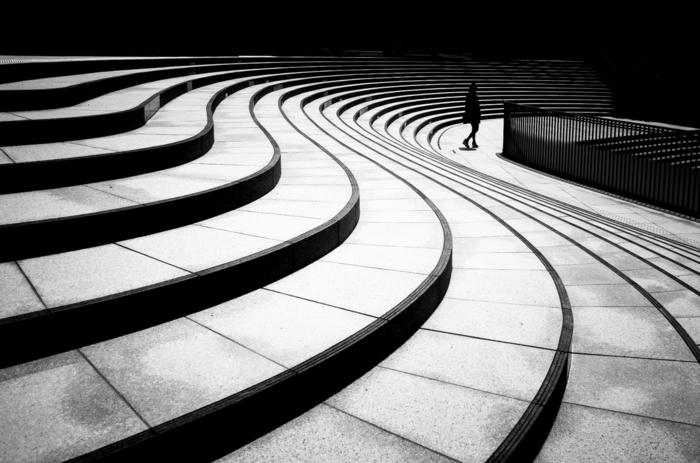 formes géométriques photographie noir et blanc