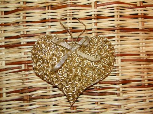 idée bricolage noël pâtes alimentaires coeur