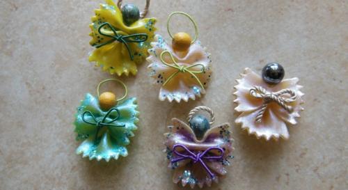 idée bricolage noël pâtes alimentaires perles anges