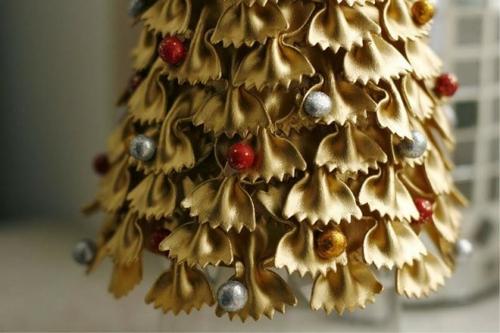 idée bricolage noël pâtes alimentaires perles