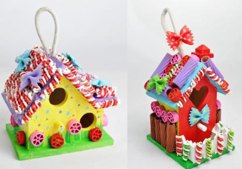idée bricolage noël pâtes alimentaires petites maisons