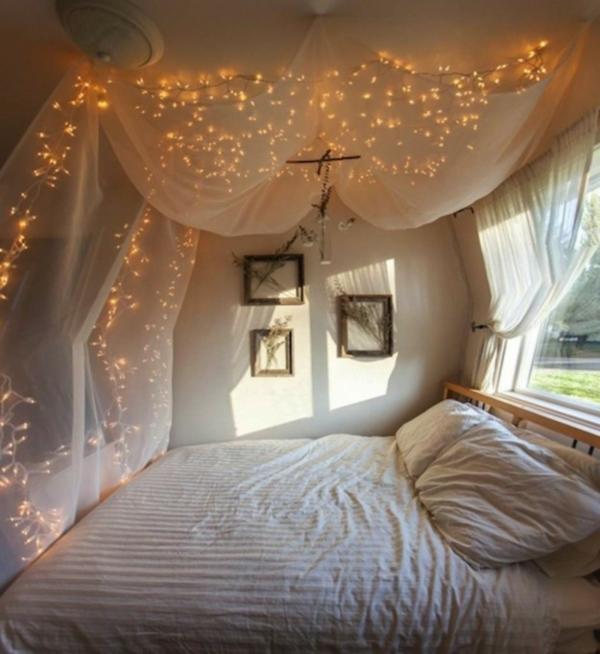idée déco chambre adulte romantique éclairage style nordique