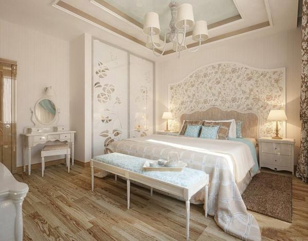idée déco chambre adulte romantique blanc et beige