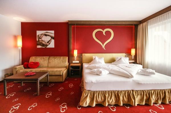 Id e d co chambre adulte romantique 80 photos inspirantes for Chambre romantique rouge