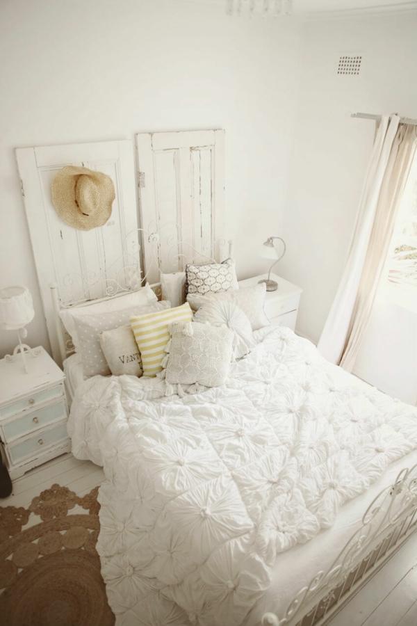 idée déco chambre adulte romantique couleur blanche