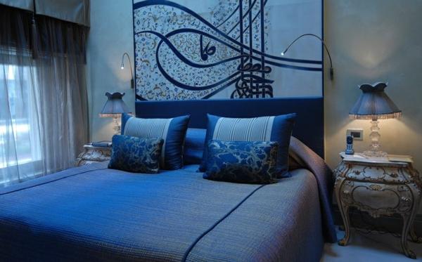 idée déco chambre adulte romantique couleur bleu