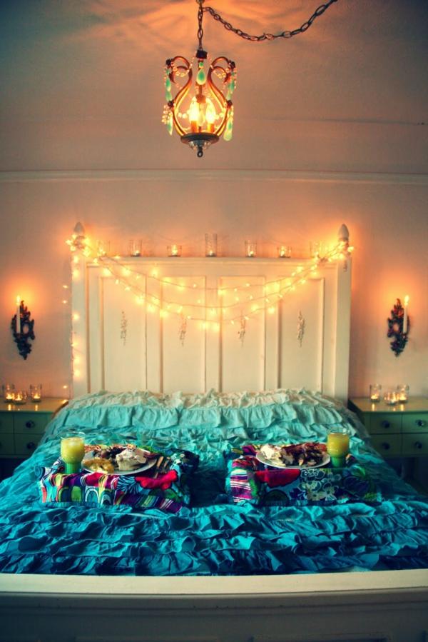 idée déco chambre adulte romantique guirlande lumineuse