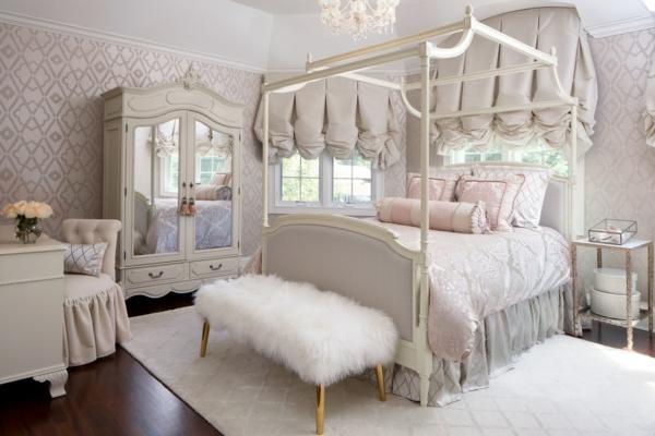 idée déco chambre adulte romantique lit style victorien