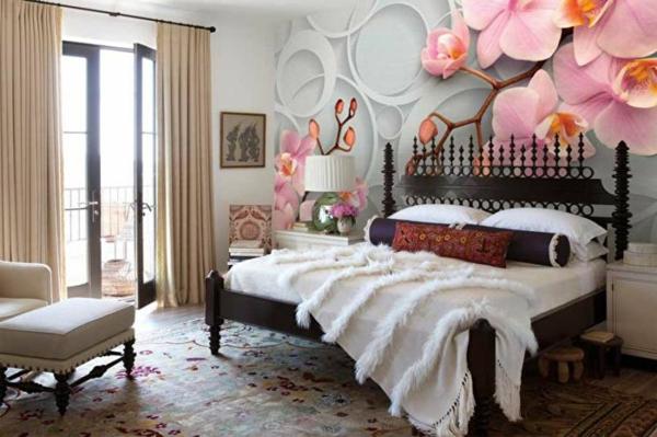 idée déco chambre adulte romantique papier peint 3d
