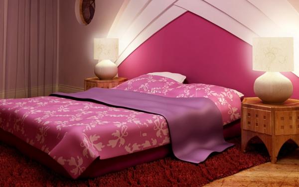 idée déco chambre adulte romantique rose et rouge