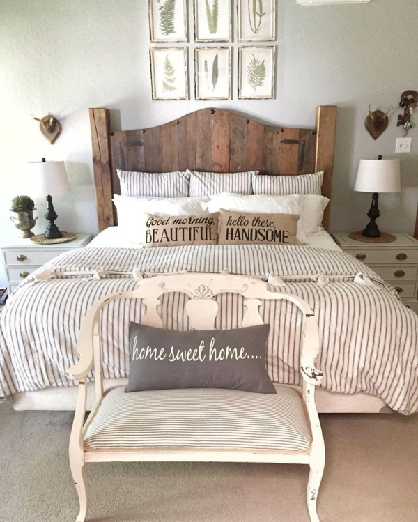 idée déco chambre adulte romantique style rustique