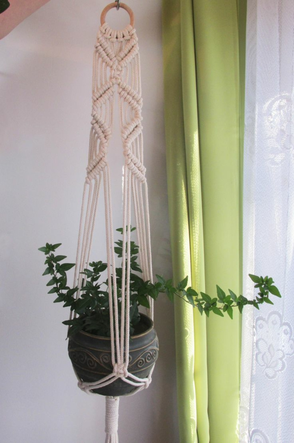 idée déco maison diy suspension macramé