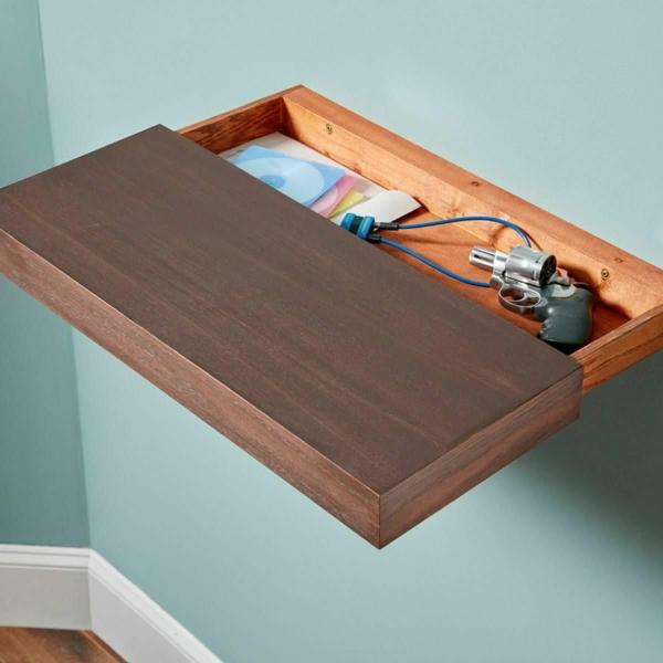 idée de cachette secrète maison étagère avec compartiment secret