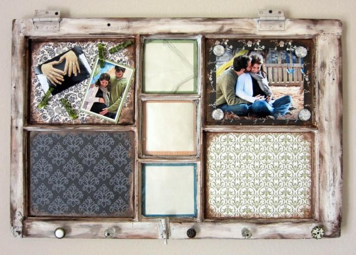 idée mur photo ancien cadre de fenêtre