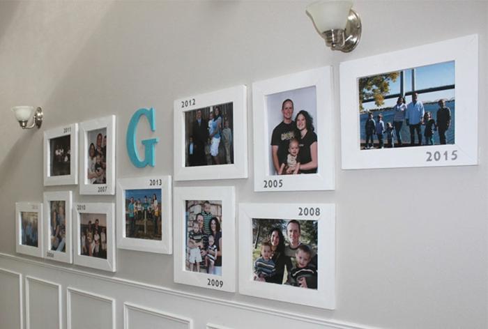 idée mur photo chronologie