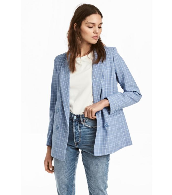 jean veste carreaux femme pour un look tendance