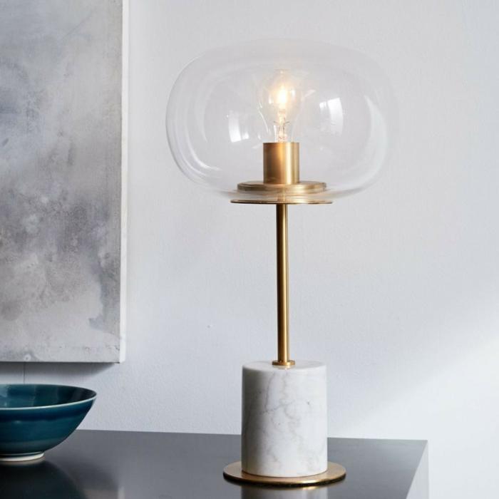 lampes de bureau modèle en marbre