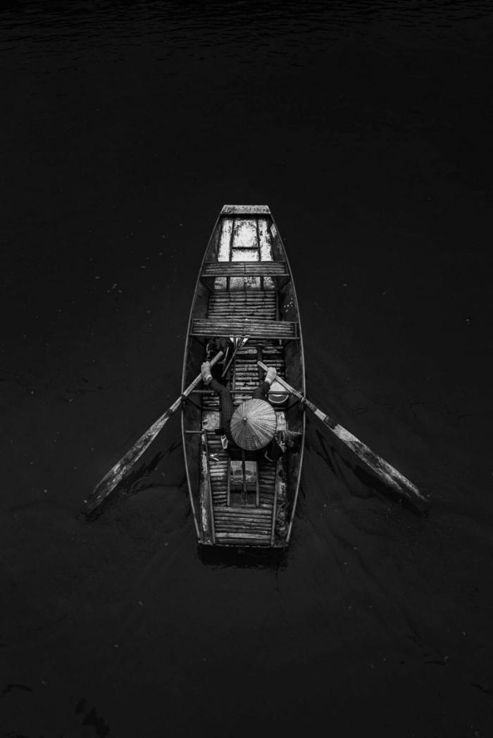 le pêcheur photographie noir et blanc