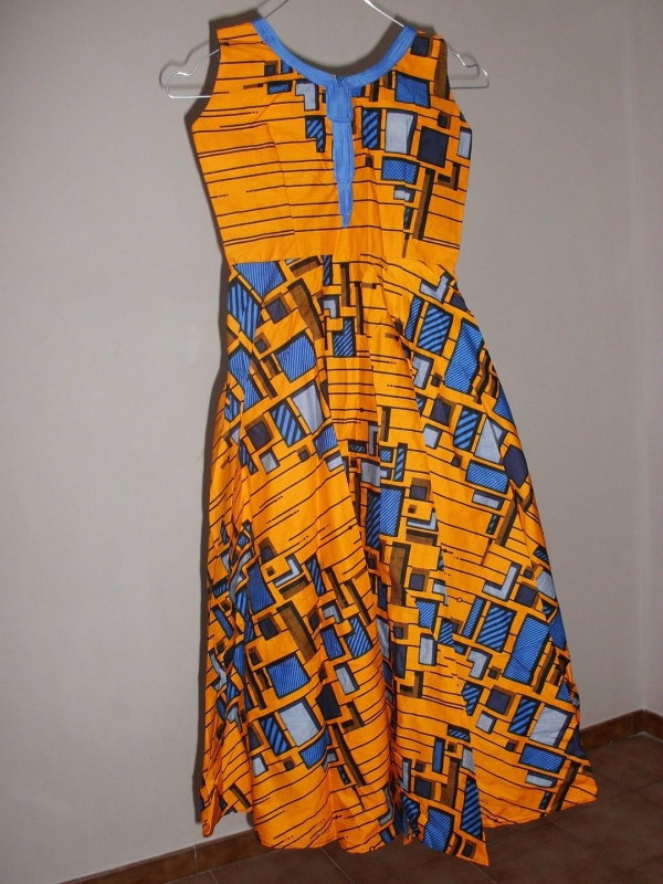 le pagne africain robe élégante