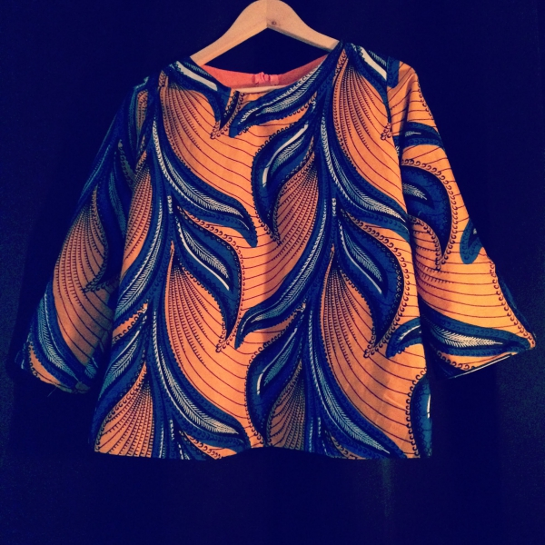 le pagne africain une blouse large