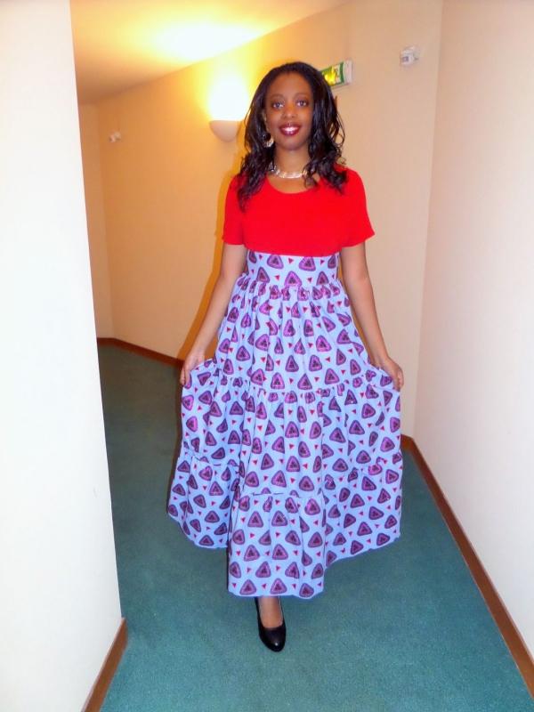 le pagne africain une jupe à la ceinture large