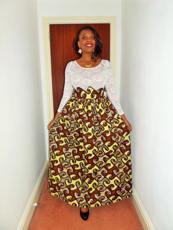 le pagne africain une jupe-puzzle