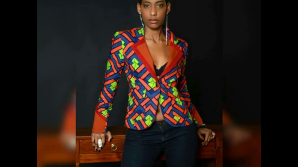 le pagne africain une veste stylée