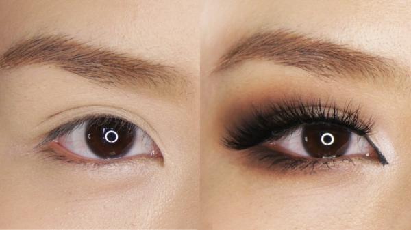 maquillage yeux de biche grande différence