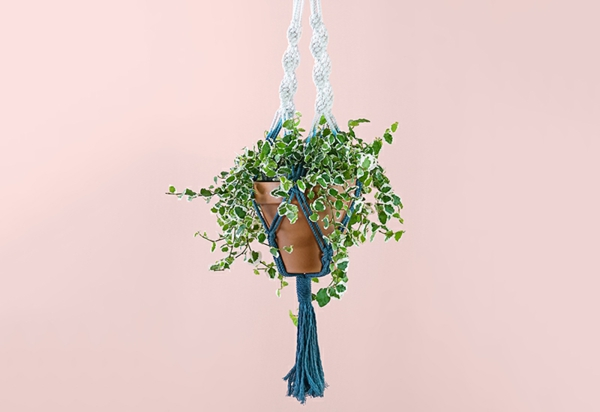 modèle de suspension macramé diy