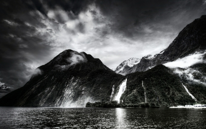 montagne photographie noir et blanc