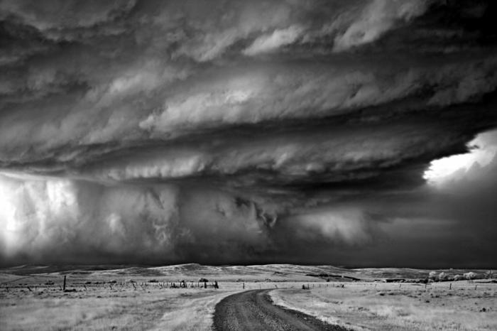 orage photographie noir et blanc