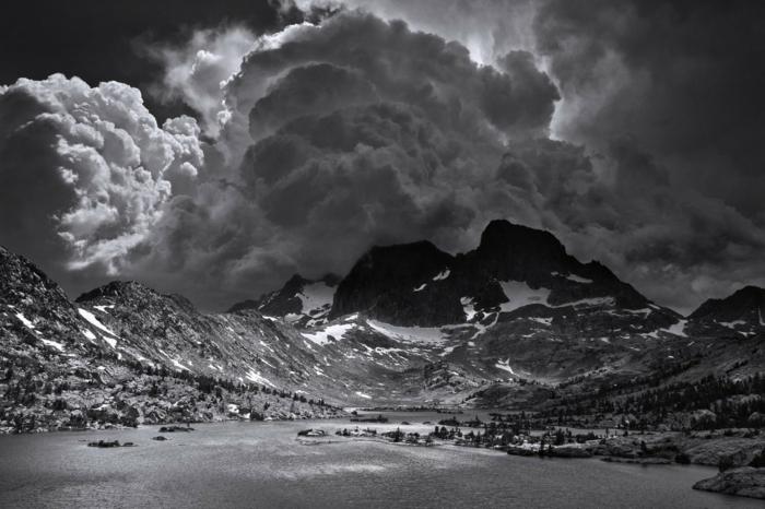 paysage photographie noir et blanc