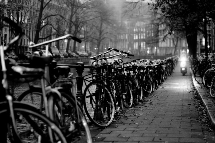 photographie noir et blanc Amsterdam
