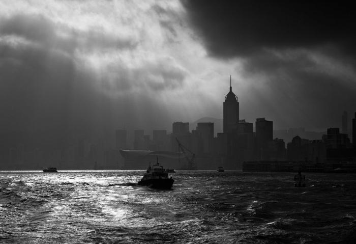 photographie noir et blanc hong kong