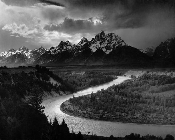 photographie noir et blanc paysage
