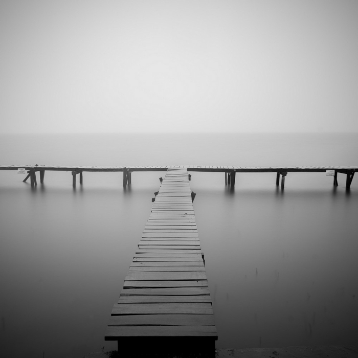 photographie noir et blanc pont