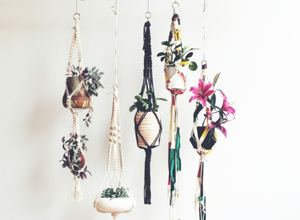 pot de plante suspension macramé diy
