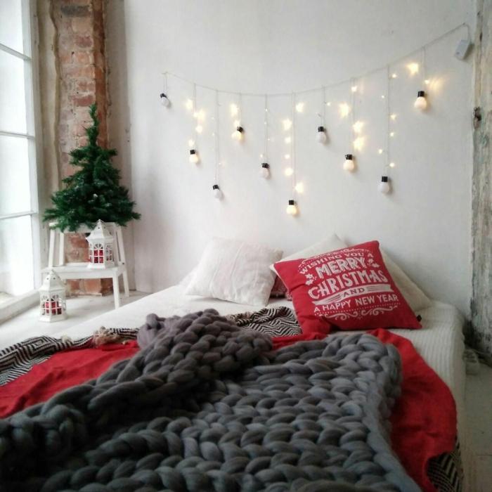 pour une ambiance festive et cosy plaid grosse maille
