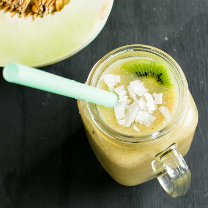 recette smoothie aux kiwis et melon
