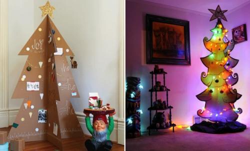sapin de Noël en carton en quatre parties