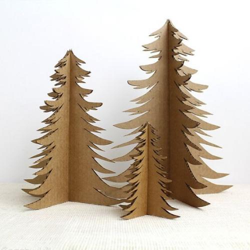 sapin de Noël en carton jolis arbres