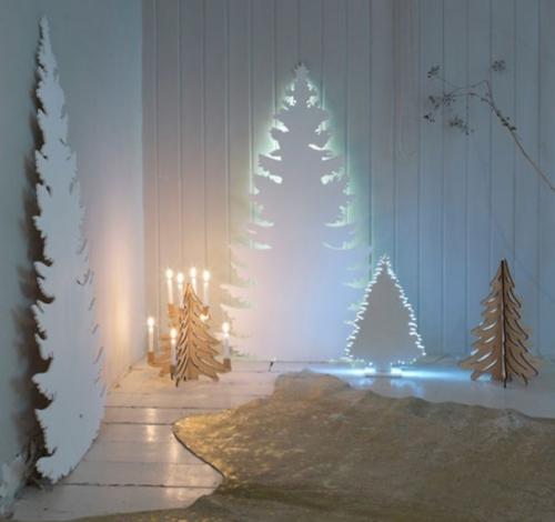 sapin de Noël en carton silhouette découpée