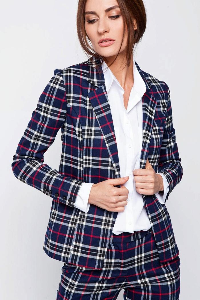 tartan veste carreaux femme