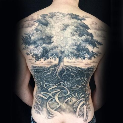 tatouage arbre de vie racines profondes